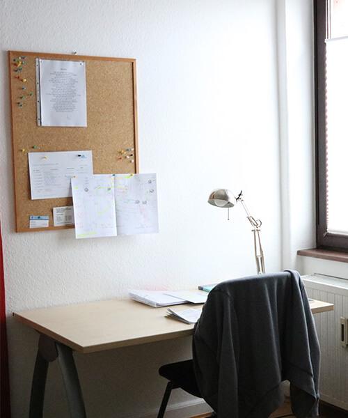 Foto Unterbringung Schreibtisch